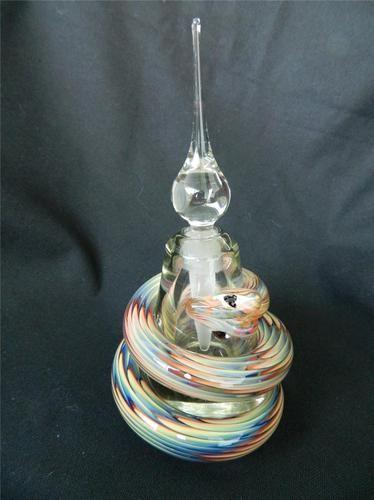 Stuart Abelman Art-Glass Multi-Col Swirling Perfume Bottle ♥⇝♥⇜♥