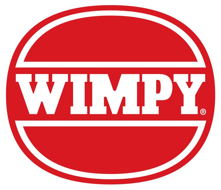 Wimpy Bar. with black vinyl seats and red hanging shades in the window and food all served on white glass plates with red rings around. No finger food in sight.