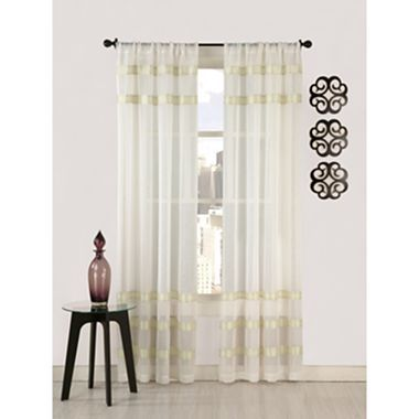 Umbra mesh rod pocket curtain panel jcpenney home Jcpenney home decor