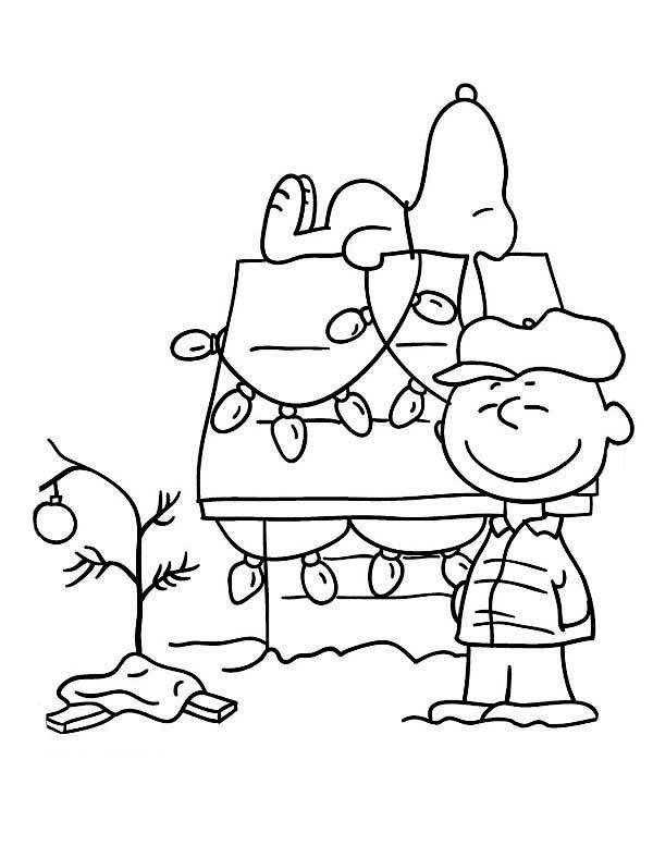Charlie Brown Christmas Coloring Pages. Christmas Tree