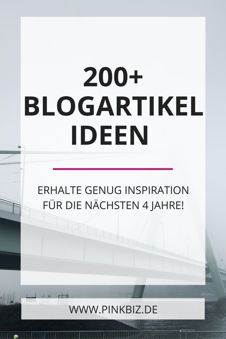 Keine Ahnung, worüber du bloggen sollst? Dann kommen diese über 200 Ideen für deine Blogartikel gerade richtig. Wenn du jede Woche bloggen willst, reichen dir die Content-Ideen für die nächsten vier Jahre!