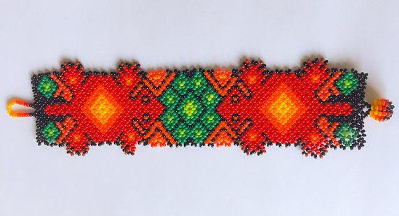 Pulsera de cuentas Huichol mexicana