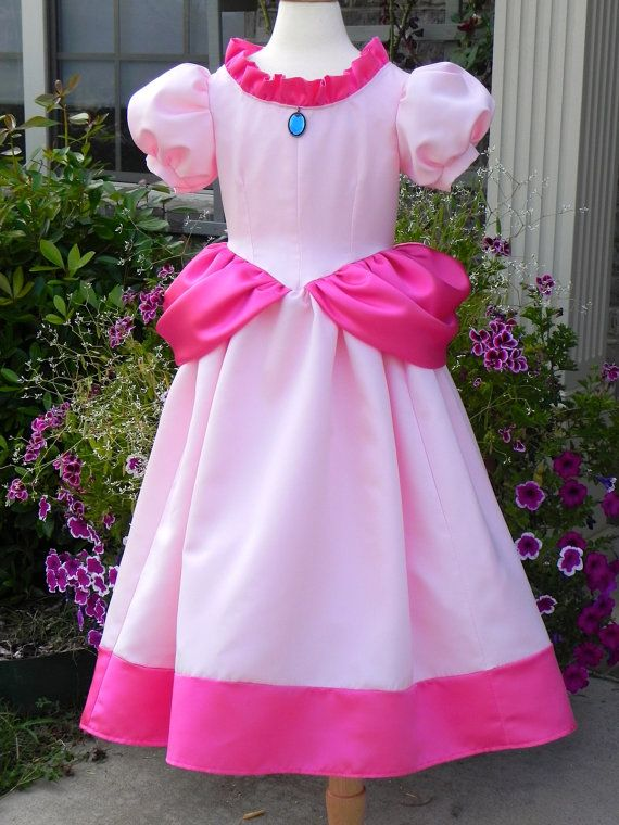 Princess Peach Costume ball gown from Super Mario Brothers. Toddler to size 8. on Etsy, $245.00