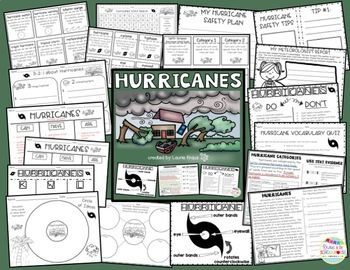 Hurricane awareness and safety tips are important for elementary students to have a better understanding of this natural disaster. Students will research and learn about hurricanes by using graphic organizers, reading and using text evidence, learning new vocabulary, writing a safety tip booklet, and identifying the parts of a hurricane.