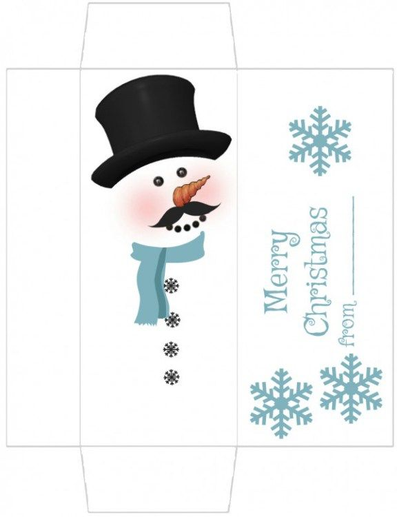Free Printable Snowman Candy Wrapper – Edible Crafts