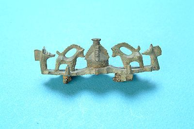 Equal-armed brooch with deer figurines. Viking age. Found in Uppland