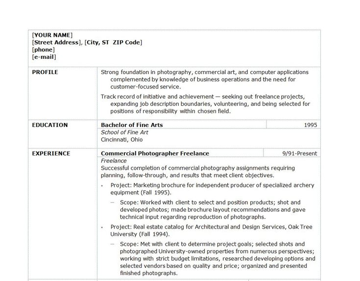 19 Best Images About Resumes On Pinterest