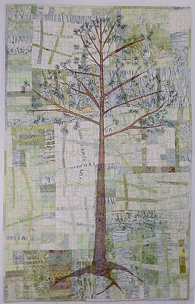 Kathie Briggs. Love the background, love the tree, love the quilt.