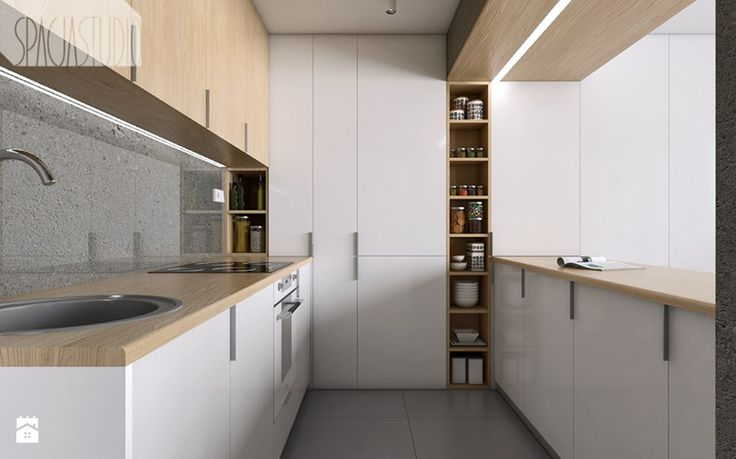 mieszkanie w Katowicach - Kuchnia, styl minimalistyczny - zdjęcie od Spacja Studio