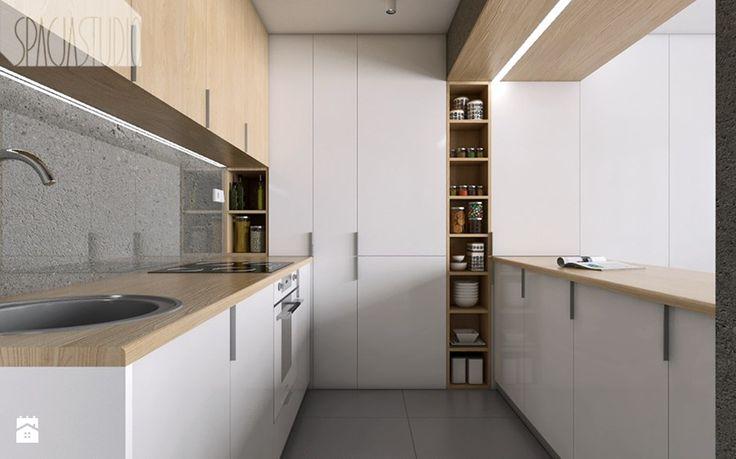 tez mnie nie przekonuje - mieszkanie w Katowicach - Kuchnia, styl minimalistyczny - zdjęcie od Spacja Studio