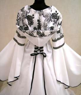 Medieval and Renaissance Wedding Dresses | Handfasting Wedding Dresses Renaissance Cloak Irish Dance Dress ...