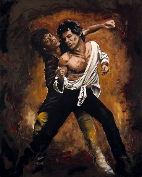 A little homoeroticism never hurt anyone. Painting by Ronnie Wood