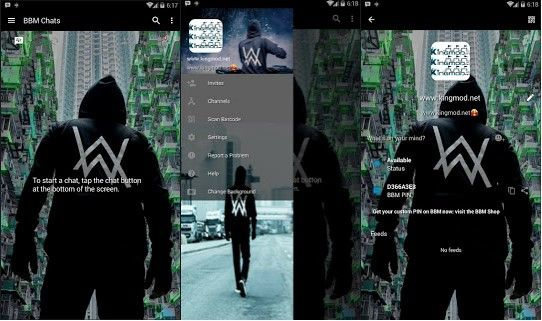 BBM MOD Transparant Dj Alan Walker V3.1.0.13