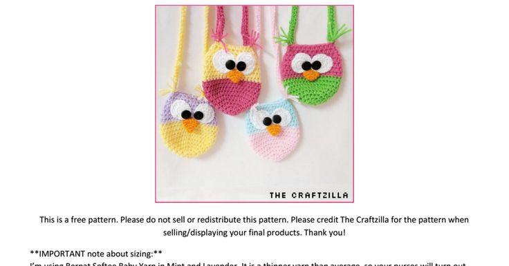 Owl Purse.  Free pattern.  The Craftzilla.pdf