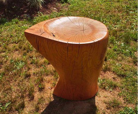 Salvaged Tree Stump Furniture By Denis Milovanov