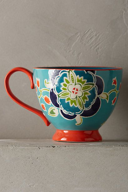 Bellina Blooms Mug #anthropologie
