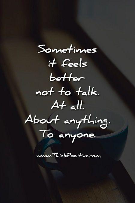 Sometimes It Feels Better