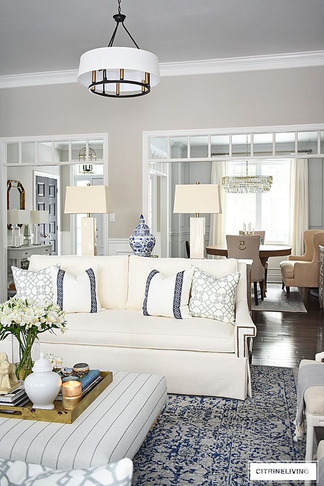 Living Room Reveal With New White Sofas Open Concept Living Room Small Living Room Design Living Room White