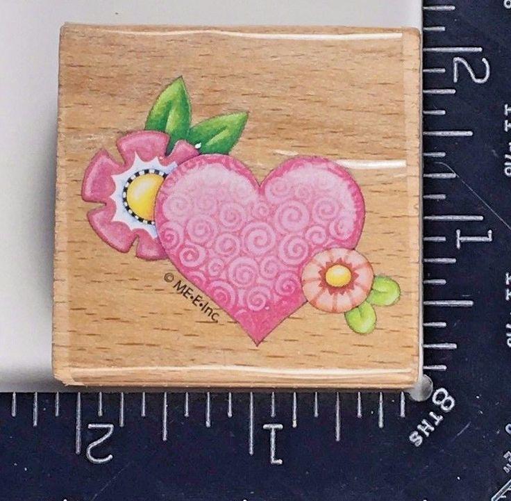 Mary Engelbreit Rubber Stamp Swirl Heart Pattern and Flower Flourish #10a #MaryEngelbreit