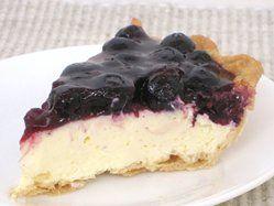 Fresh Blueberry Cheesecake Pie
