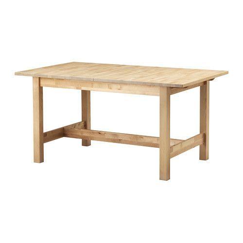 IKEA - NORDEN, Uittrekbare tafel, Incl. 1 inlegblad.Uittrekbare eettafel met 1 inlegblad; biedt plaats aan 4-6 personen en je kan de grootte van de tafel naar behoefte aanpassen.Het inlegblad wordt makkelijk bereikbaar onder het tafelblad opgeborgen wanneer het niet wordt gebruikt.Massief hout is een slijtvast natuurmateriaal.Door de verborgen vergrendelfunctie is er geen gleuf tussen de bladen en blijft het inlegblad op zijn plaats.