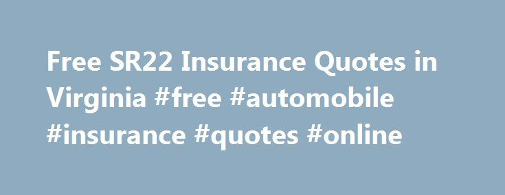 Insurance Quote Online: Insurance Quotes Online Sr22