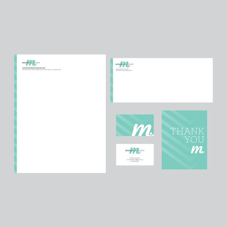 Brand Identity - Business Card Design, Letterhead Design, Envelope Design, Postcard Design. $150.00, via Etsy.