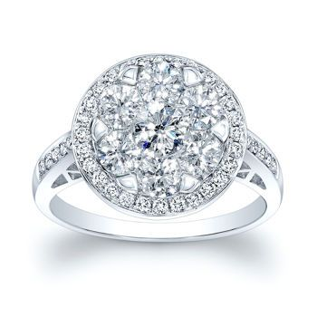 costco multi stone diamond ring 137ctw 14kt white gold - Costco Wedding Ring