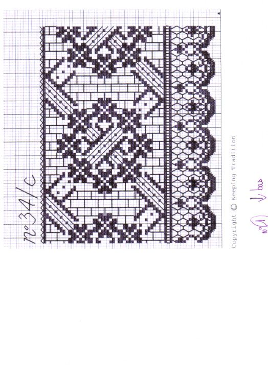 Cross-stitch Border... no color chart, just use pattern chart colors as your guide.. or choose your own colors...   Gallery.ru / Фото #21 - вышить кружева - irisha-ira
