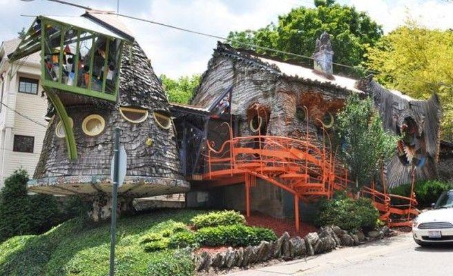 """Самые необычные дома в мире - """"Грибной дом"""" (США, Огайо)"""