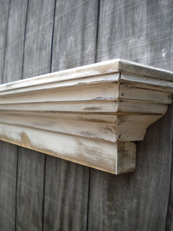 Rustic county wall shelf