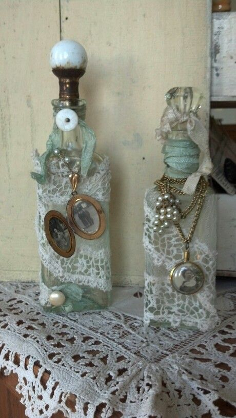 Altered bottles with locket