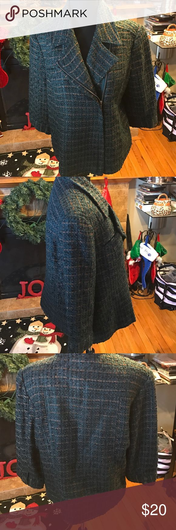 Coldwater Creek moto jacket Coldwater Creek moto jacket. Jacket on perfect condition maybe wore once Coldwater Creek Jackets & Coats Blazers