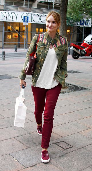 Alba Carrillo Sighting In Madrid - October 08, 2014