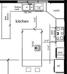 12 x 12 kitchen design layouts - Google Search