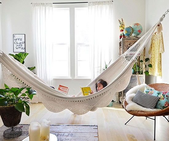Turn your house into a creative home creative mom and happy for Living room hammock