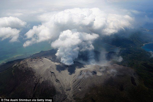 Mt Shindake, Japan, erupted earlier today (5/28/2015) & residents of the island have been evacuated. About 140 people live on Kuchinoerabu Island in S Japan
