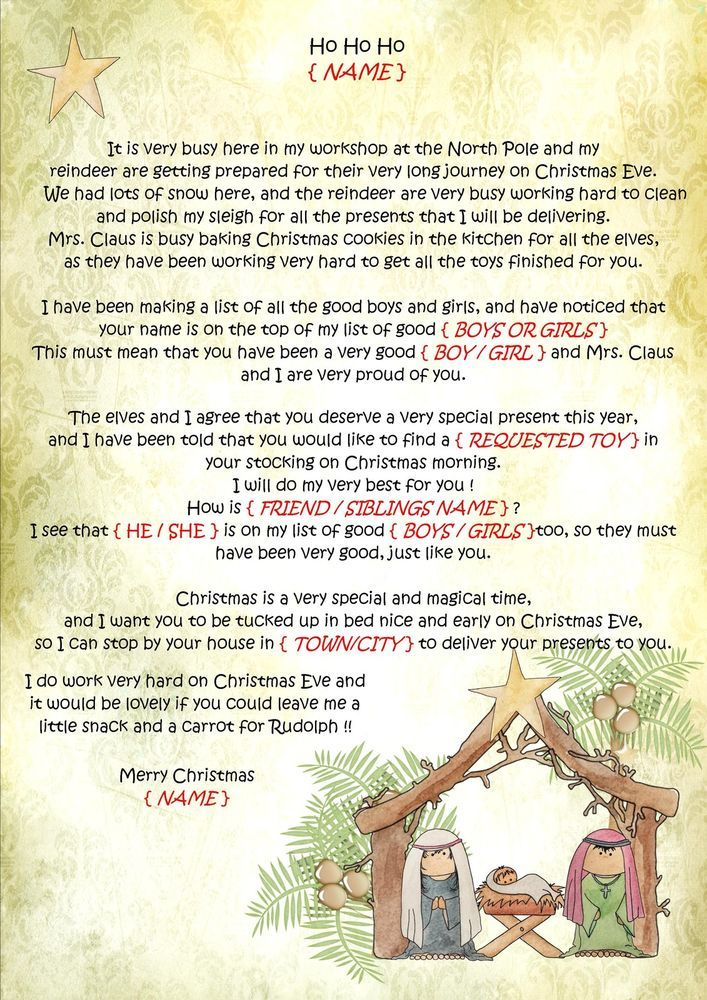 9 best christmas for kids images on pinterest letter from santa personalised letter from santa father christmas north pole envelope spiritdancerdesigns Gallery