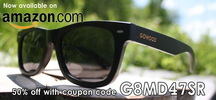 Get 50% discount on our black bamboo wayfarer style Bangkok on Amazon and GoWood.ca. http://www.amazon.com/GOWOOD-Bangkok-Wayfarer-Polarized-Sunglasses/dp/B011GKL7ZE…