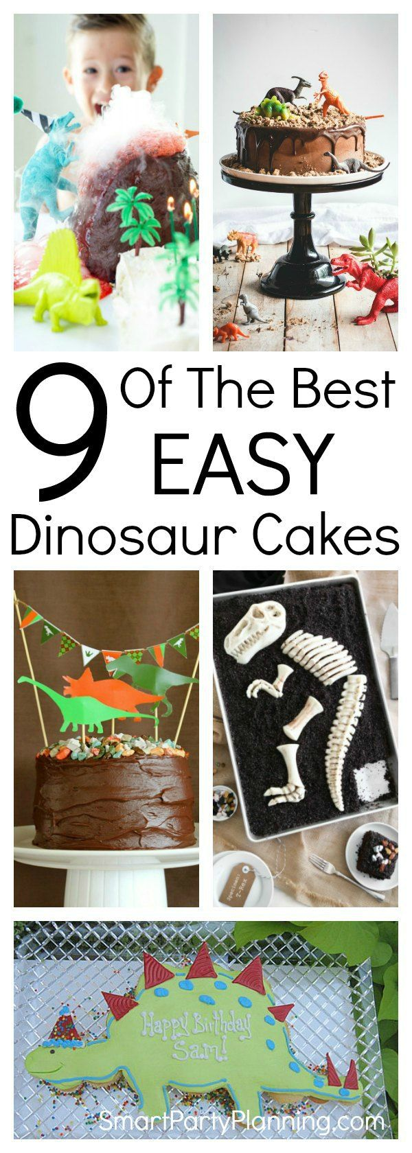 Learn how to make easy dinosaur cakes for a birthday the kids will remember forever. With simple ideas and tutorials, you will have just as much fun making the cake as the kids will eating it. It's easier than you think to make an awesome DIY cake.  This is definitely one for the boys! #Dinosaurcakes #DIY #Simple #Easy #Birthday