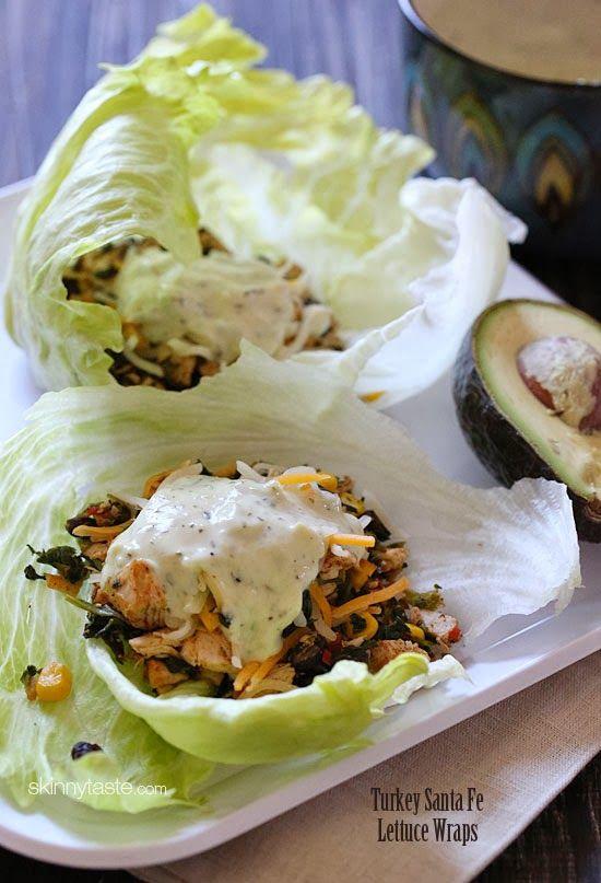 Santa fe lettuce wraps