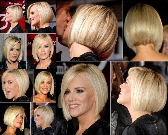 Straight Bob Hairstyle for Short Hair: Jenny McCarthy Haircuts #prom white hairstyles