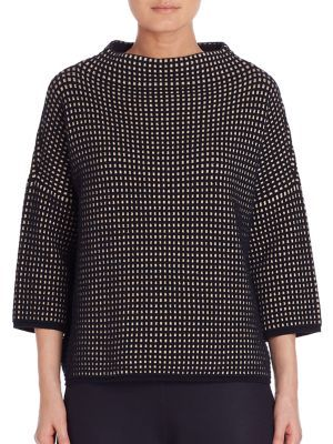 MAX MARA Textured Three-Fourth Sleeves Sweater. #maxmara #cloth #sweater
