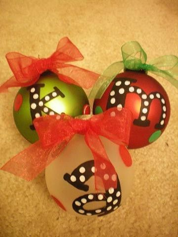 Hand Painted Christmas Ornament by prettyprettythings on Etsy