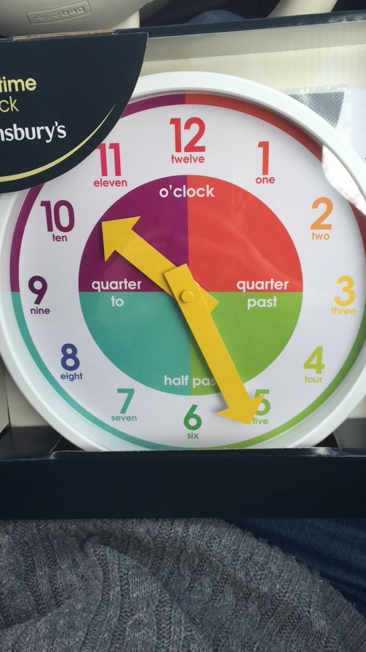 Great Clock To Help Children Tell The Time From Sainsbury