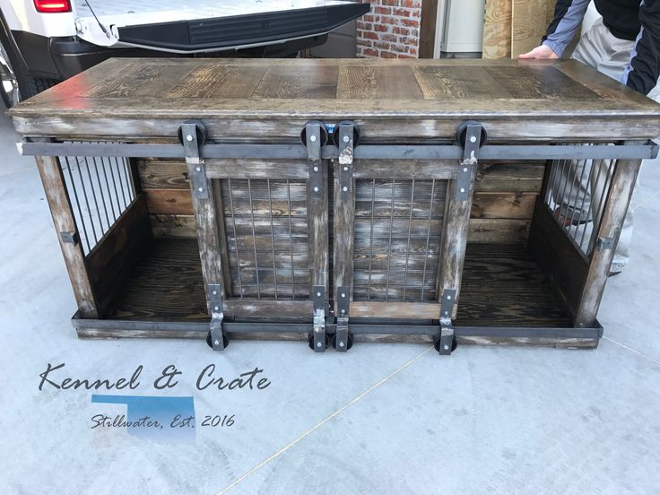 farmhouse style kennel and crate double dog kennel for the designer in you featuring dual rolling