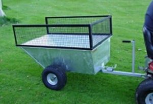 Galvanised atv trailer with wide profile wheels. For more info: http://www.fresh-group.com/trailers-trolleys-and-carts.html