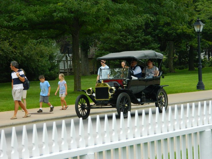 Taking a ride at the Henry Ford