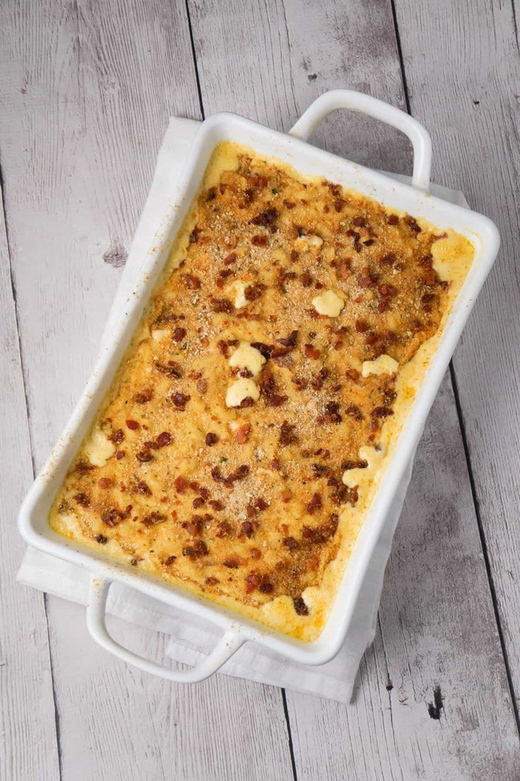 Mac And Cheese With Bacon Is A Creamy Baked Macaroni And Cheese