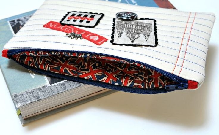 Zippered pouches, explaining a great way to make zippers lay flat and look professional.